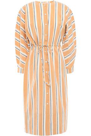 BROCK COLLECTION Striped crinkled cotton-blend poplin dress