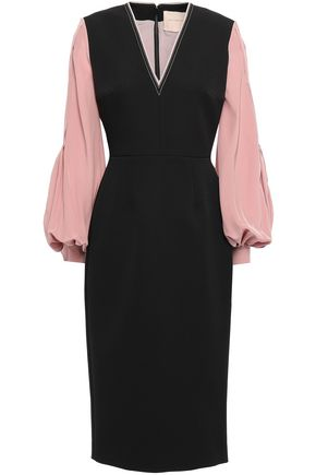 ROKSANDA Crepe de chine and cady dress