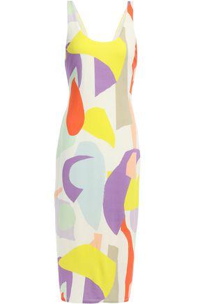 ALICE + OLIVIA James printed stretch-jersey midi dress