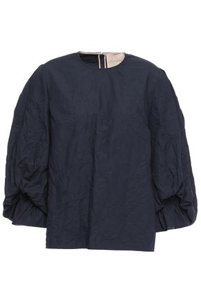 ROKSANDA Crinkled cotton blouse