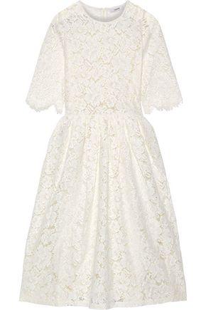 GANNI Jerome pleated corded lace midi dress