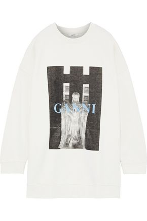 GANNI Lott Isoli printed cotton-terry sweatshirt