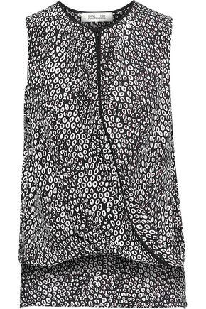 DIANE VON FURSTENBERG Wrap-effect printed silk top