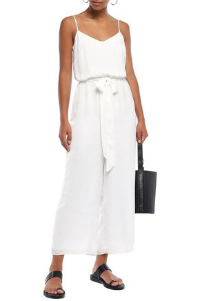 Bailey44 Suits BAILEY 44 WOMAN BELTED SATIN JUMPSUIT WHITE