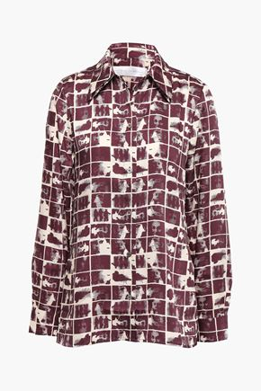 VICTORIA, VICTORIA BECKHAM Printed twill shirt