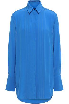 VICTORIA, VICTORIA BECKHAM Pintucked silk-crepe shirt