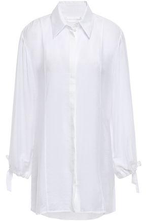 VICTORIA, VICTORIA BECKHAM Modal-blend voile shirt