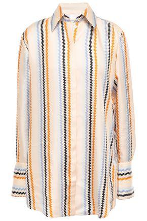 VICTORIA, VICTORIA BECKHAM Printed silk-twill shirt