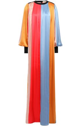 ROKSANDA Oversized color-block silk-satin gown