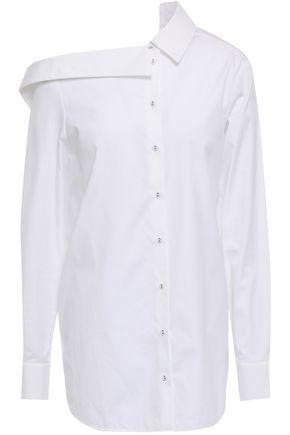 VICTORIA, VICTORIA BECKHAM Asymmetric cotton-poplin shirt