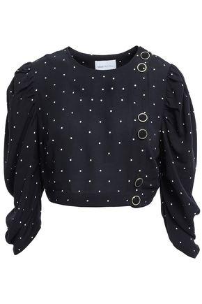 ALICE McCALL Oscar cropped polka-dot crepe top