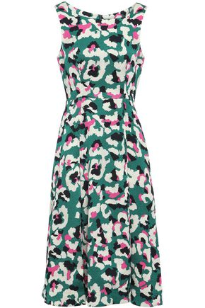 MARY KATRANTZOU Talon pleated jacquard dress