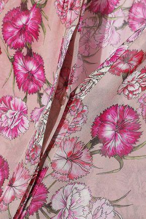 GIAMBATTISTA VALLI Shirred floral-print silk-chiffon blouse