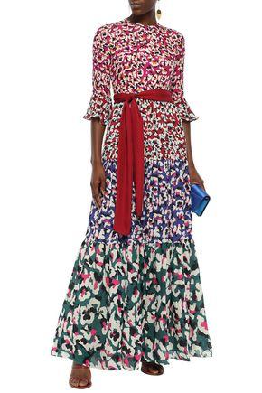 Mary Katrantzou Dresses MARY KATRANTZOU WOMAN KEW BELTED PRINTED GEORGETTE MAXI DRESS MULTICOLOR