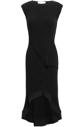 ESTEBAN CORTAZAR Fluted ribbed-knit dress