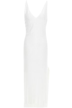 ESTEBAN CORTAZAR Jacquard-knit midi slip dress