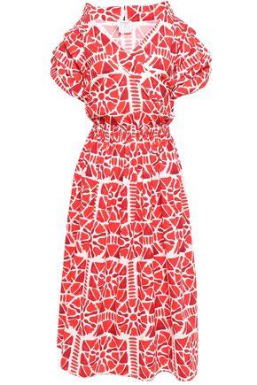 STELLA JEAN Wrap-effect printed cotton midi dress