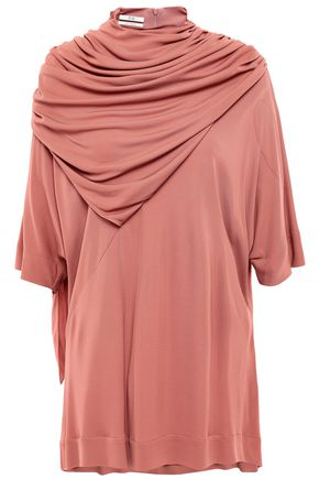 CO Draped stretch-crepe top