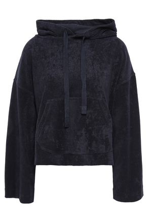 VINCE. Cotton-terry hooded sweatshirt