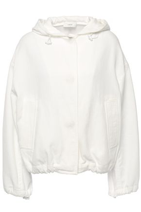 VINCE. Cotton-twill hooded jacket