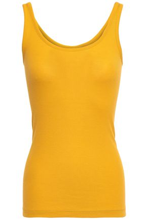 VINCE. Ribbed Pima cotton and modal-blend tank