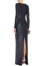 NAEEM KHAN Sequined stretch-tulle gown