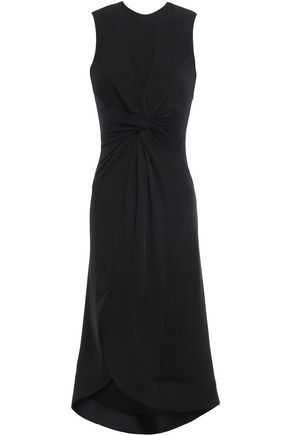 ESTEBAN CORTAZAR Cutout twist-front jersey dress