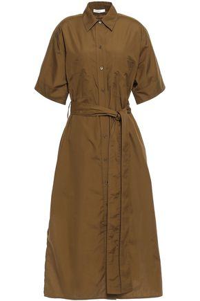 VINCE. Belted cotton-poplin midi shirt dress