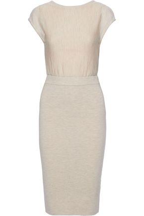 """ALICE + OLIVIA فستان """"شارا"""" بتصميم متشابك عند الظهر من مزيج الصوف مع أجزاء مقصوصة"""
