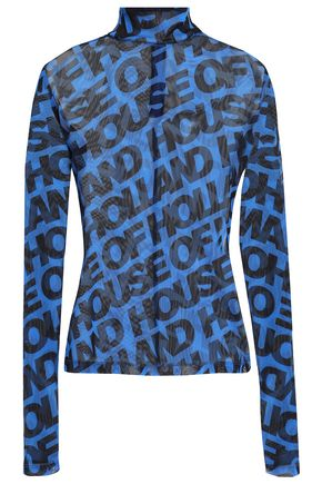 HOUSE OF HOLLAND Printed tulle top