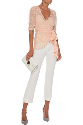 Alice Mccall Tops ALICE MCCALL WOMAN MOON TALK FIL COUPÉ GEORGETTE WRAP TOP ANTIQUE ROSE