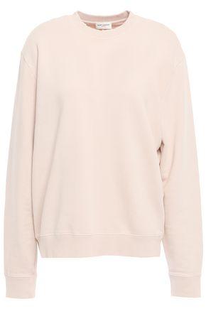 SAINT LAURENT French cotton-terry sweatshirt