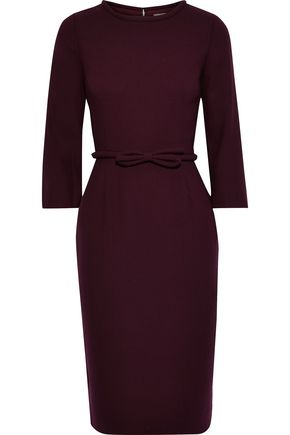 GOAT Harriet bow-detailed wool-crepe dress