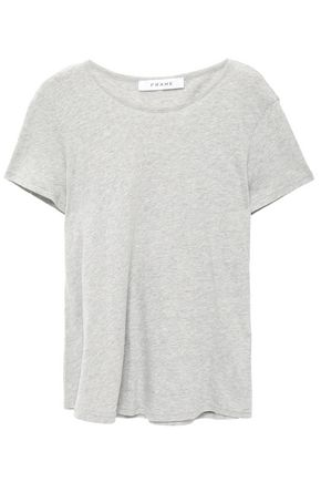FRAME Mélange cotton-jersey T-shirt
