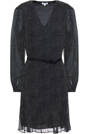CLAUDIE PIERLOT Ready satin-trimmed polka-dot silk-chiffon dress