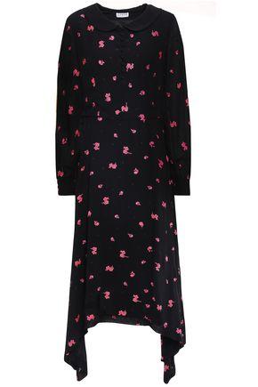 CLAUDIE PIERLOT Asymmetric embroidered fil coupé woven midi dress