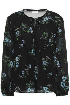 CLAUDIE PIERLOT Beflower embroidered printed georgette blouse