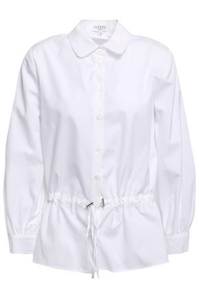 CLAUDIE PIERLOT Chachou gathered cotton-poplin shirt