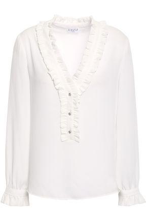 CLAUDIE PIERLOT Top Business ruffle-trimmed crepe blouse