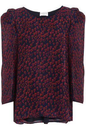 CLAUDIE PIERLOT Banc gathered printed georgette blouse