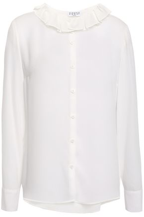CLAUDIE PIERLOT Cupcake pleated crepe shirt