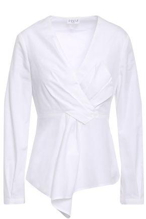 CLAUDIE PIERLOT Beyoung twist-front cotton-poplin shirt