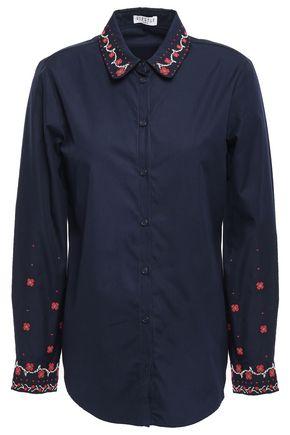 CLAUDIE PIERLOT Carlito embroidered cotton-poplin shirt
