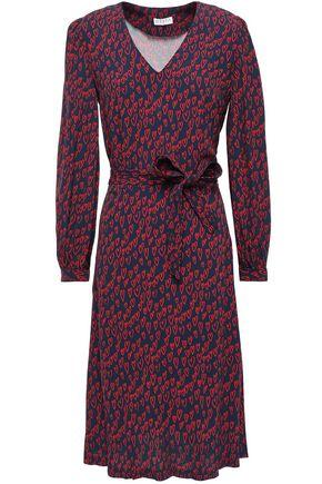 CLAUDIE PIERLOT Rafaela belted printed crepe dress