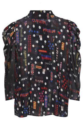 CLAUDIE PIERLOT Borisal printed georgette blouse