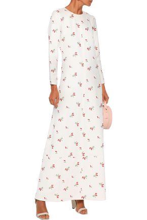 Co Maxi dresses CO WOMAN CENTER SEAM EMBROIDERED CREPE MAXI DRESS ECRU