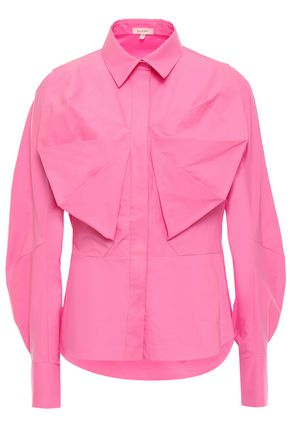 DELPOZO Pleated cotton-poplin shirt