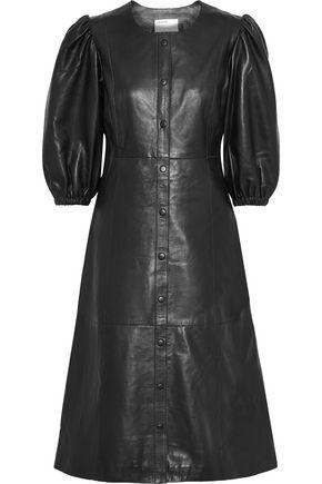 MUUBAA Leather midi dress