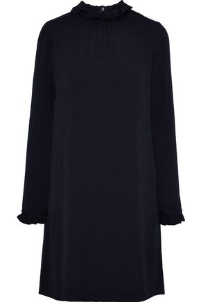 GOAT Hibiscus ruffle-trimmed crepe mini dress