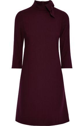 GOAT Ava bow-embellished wool-crepe mini dress